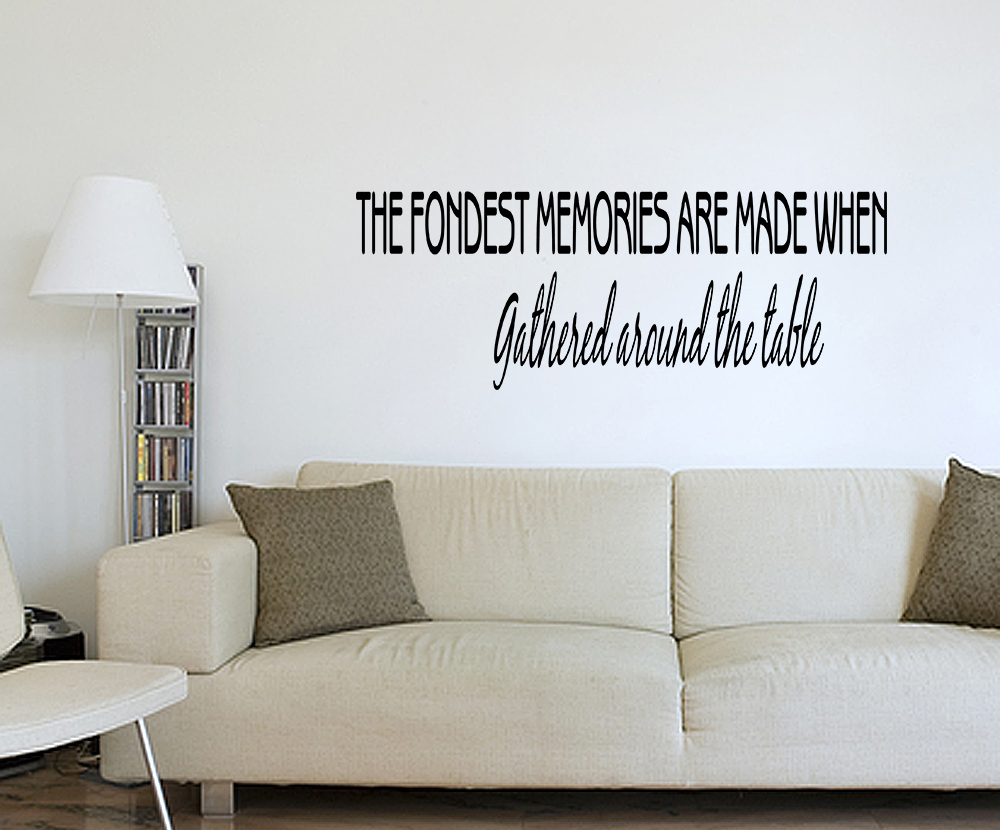 Fondest memories kitchen dining room wall art decal for Ebay dining room wall art